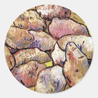 Sticker Rond Vincent van Gogh - beaux-arts toujours de pommes
