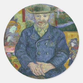 Sticker Rond Vincent van Gogh - portrait de Pere Tanguy