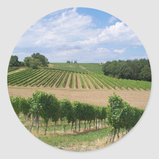 Sticker Rond Vineyard - Vignoble (Bordeaux - France) 04