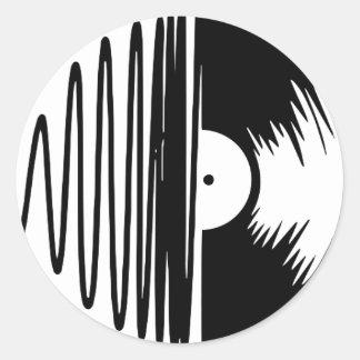 Sticker Rond vinil de musique