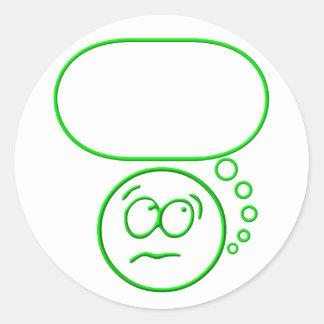 Sticker Rond Visage #2 (avec la bulle de la parole)