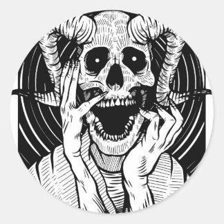 Sticker Rond visage de diable