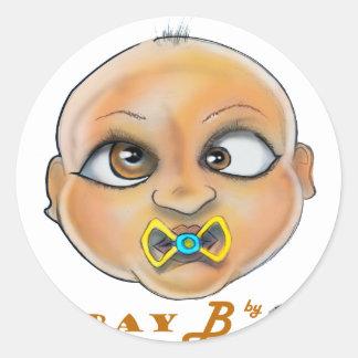 Sticker Rond Visage de la baie B
