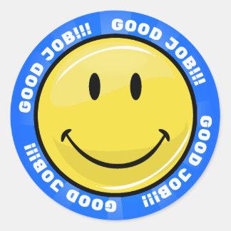 Sticker Rond Visage heureux classique