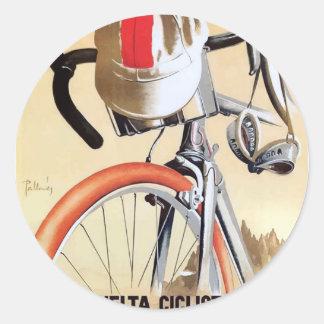 Sticker Rond Visite 1943 de l'Espagne d'affiche de course de
