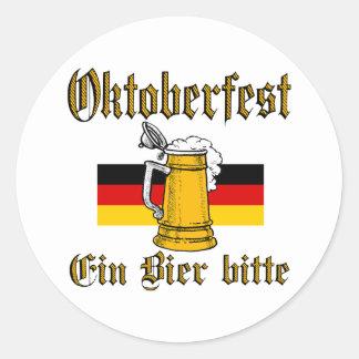 Sticker Rond Vitesse d'Oktoberfest
