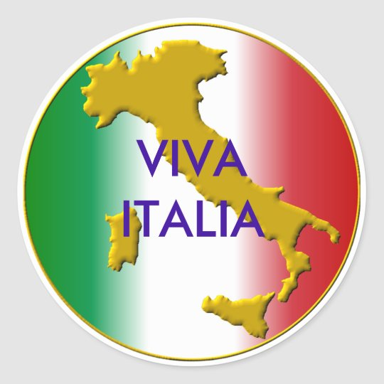 Sticker Rond viva italia