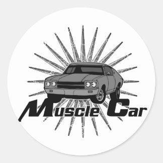 Sticker Rond Voiture de muscle de nova de Chevy