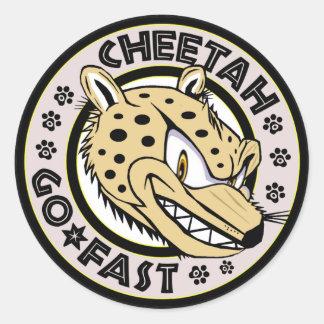 Sticker Rond Vont le guépard rapide
