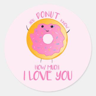 Sticker Rond Vous BEIGNET savez combien je t'aime - des