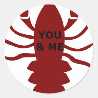 Sticker Rond Vous et moi êtes des homards