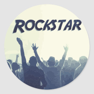 Sticker Rond Vous êtes un Rockstar !