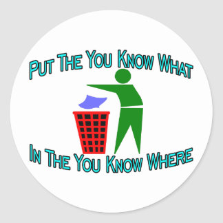 Sticker Rond Vous savez où
