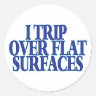 Sticker Rond Voyage au-dessus des surfaces planes