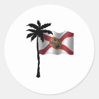 STICKER ROND VOYAGE VERS LA FLORIDE