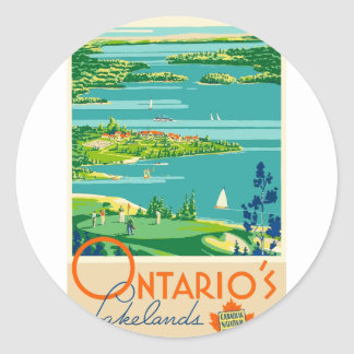 Sticker Rond Voyage vintage Ontario Canada