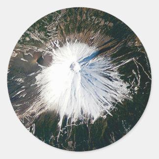 Sticker Rond vue aérienne du mont Fuji