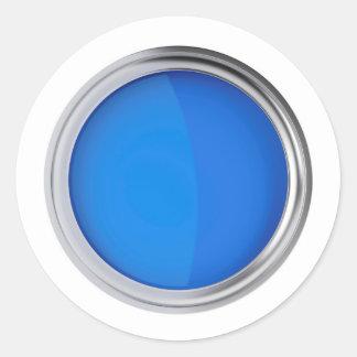 Sticker Rond Vue supérieure de peinture bleue