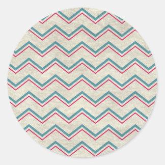 Sticker Rond waves11