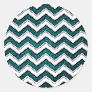 Sticker Rond waves25