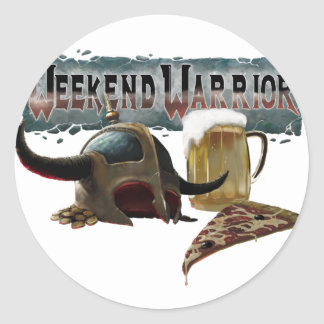 Sticker Rond weekend warrio
