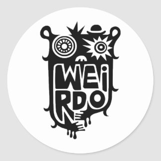 Sticker Rond Weirdo - aléatoire
