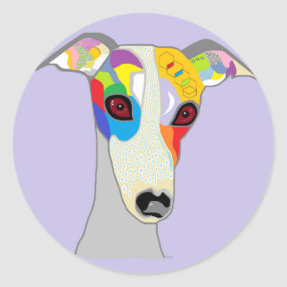 STICKER ROND WHIPPET