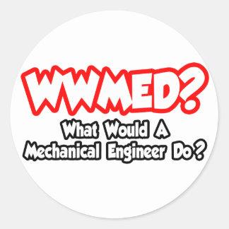Sticker Rond WWMED… ce qui un ingénieur mécanicien ferait ?
