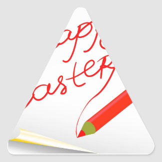 Sticker Triangulaire 150Happy Easter_rasterized