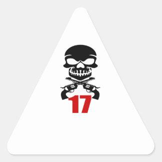 Sticker Triangulaire 17 conceptions d'anniversaire