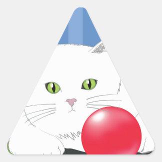 Sticker Triangulaire 63White Cat_rasterized