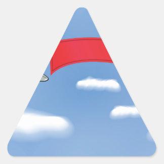 Sticker Triangulaire 73Plane Banner_rasterized