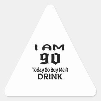 Sticker Triangulaire 90 achetez-aujourd'hui ainsi moi une boisson