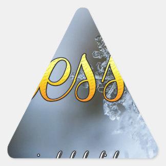 """Sticker Triangulaire """"A béni"""" l'hiver joyeux de flocon de neige de"""