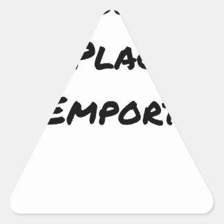 Sticker Triangulaire A CONSOMMER SUR PLACE OU À EMPORTER - Jeux de mots