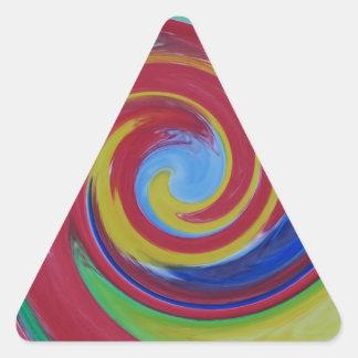Sticker Triangulaire Abrégé sur rouge tordu remous