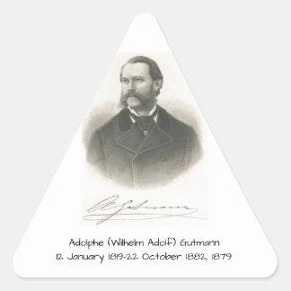 Sticker Triangulaire Adolphe (Wilhelm Adolf) Gutmann