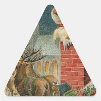 Sticker Triangulaire Affiche 1906 clous de Père Noël de cru original