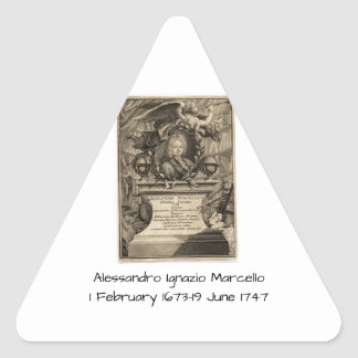 Sticker Triangulaire Alessandro Ignazio Marcello
