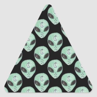 Sticker Triangulaire aliens