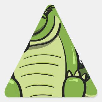Sticker Triangulaire Alligator tamponnant d'animaux