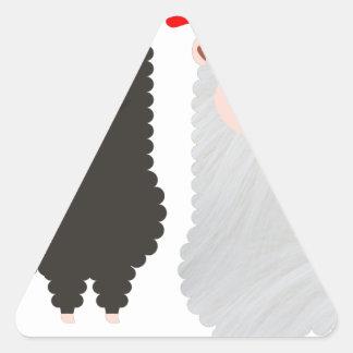 Sticker Triangulaire alpaga de renne de Noël