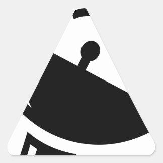 Sticker Triangulaire Antenne parabolique