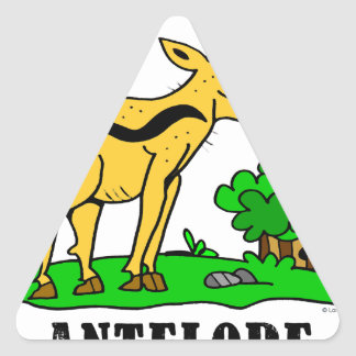 Sticker Triangulaire Antilope par Lorenzo Traverso