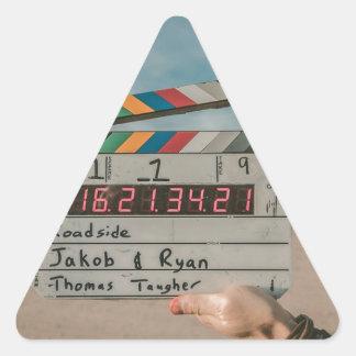 Sticker Triangulaire Appareil-photo de cinéma de film