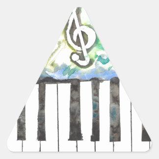 Sticker Triangulaire Aquarelle de piano
