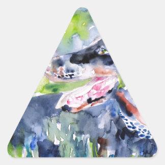 Sticker Triangulaire aquarelle DOBERMANN