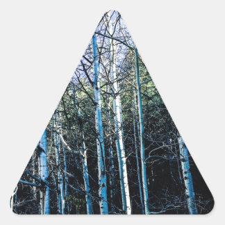 Sticker Triangulaire Arbres d'Aspen en automne