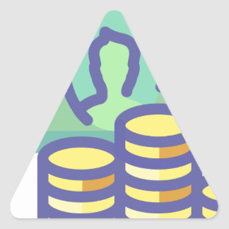 Sticker Triangulaire Argent d'économie
