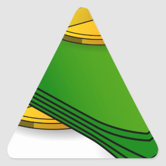 Sticker Triangulaire Argent et pièces de monnaie